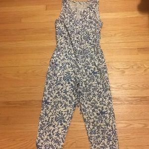 Anthropologie Blue Print jumpsuit size 6